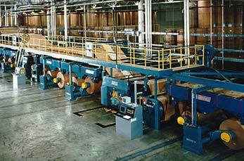 Corrugated paper machine line