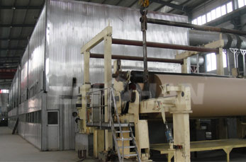 triple layer cardboard paper machine